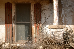 abandon house window