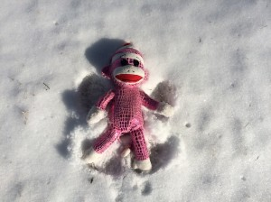 Stan makes his first snow angel