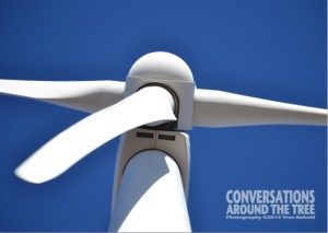 close up wind turbine
