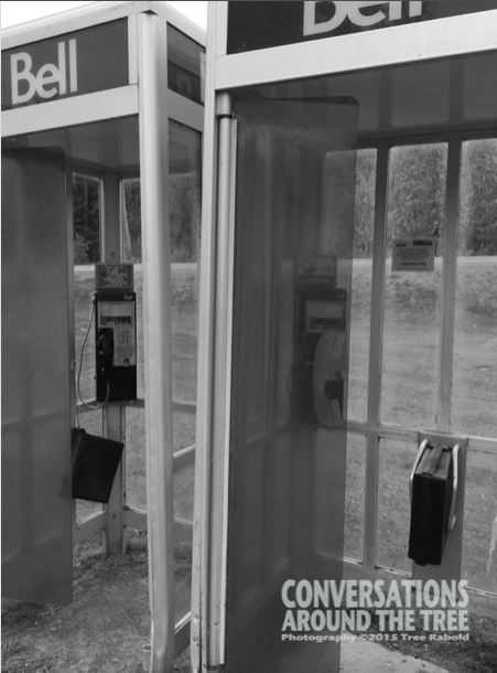 Phone booths in Northern Ontario. Photo taken last summer.