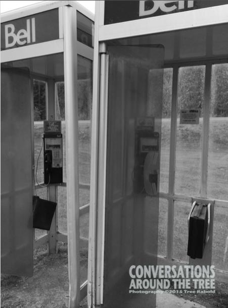 Phone booths in Northern Ontario. Photo taken last summer.