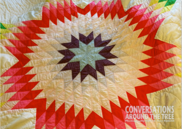 Handmade quilt by: Nanny Carr