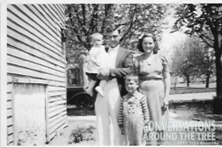 George and Gertrude Carr (boy in front) Joe Carr (baby) Barbara Carr - my mom