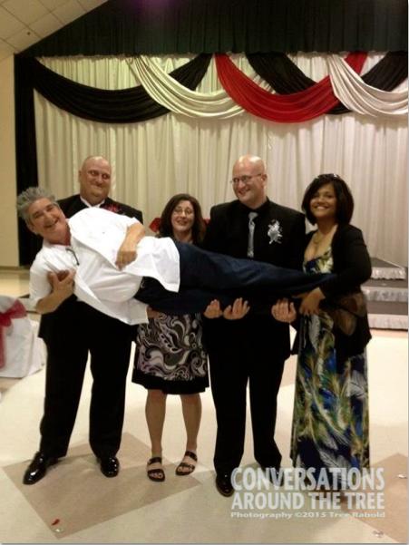 Adam, Allison, Aaron (the groom) and Adrian