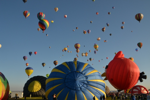 Balloon Fiesta 2015 - Mass Ascension