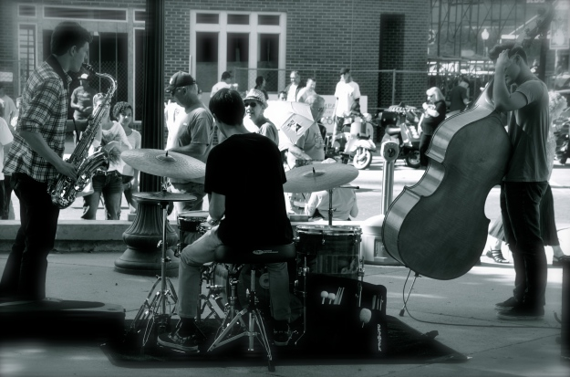 Back of Jazz Trio