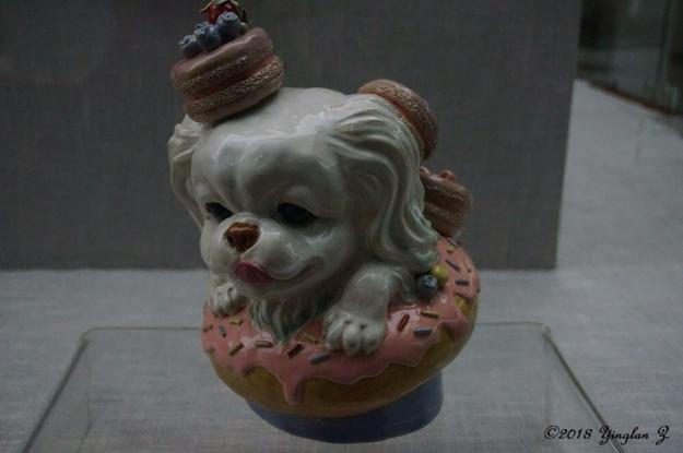 dog in donut